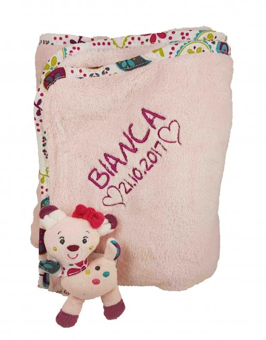 baby kuscheldecke mit namen bestickt deine schnullerkette geschenke mit wunschnamen. Black Bedroom Furniture Sets. Home Design Ideas