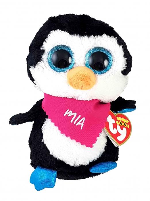 Beanie Boos Glubschi Waddles Pinguin Incl Dreieckstuch Mit Namen Max 7 Buchstaben