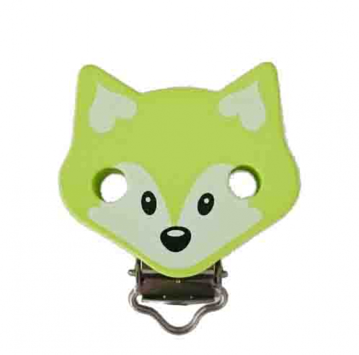 "Figurenclip ""Fuchs"" lemon"