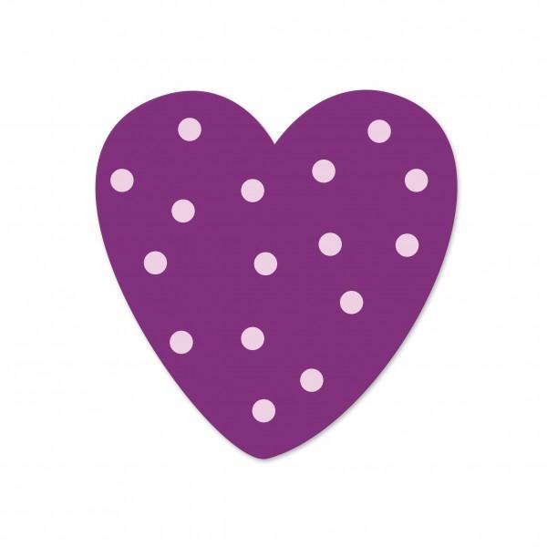 motivperle herz in flieder lila gepunktet deine schnullerkette deine schnullerkette. Black Bedroom Furniture Sets. Home Design Ideas