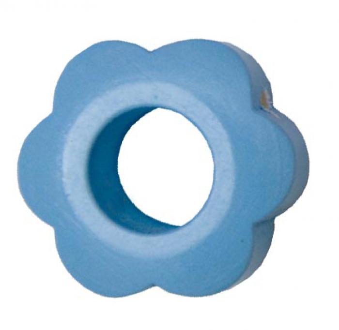 motivperle blume babyblau deine schnullerkette geschenke mit wunschnamen. Black Bedroom Furniture Sets. Home Design Ideas